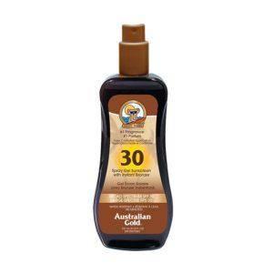 Sunscreen Australian Gold Spray Gel with Bronzer – SPF 30