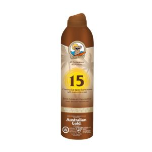 Sunscreen Australian Gold Continuous Spray with Bronzer – SPF 15