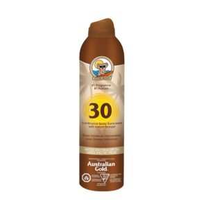 Sunscreen Australian Gold Continuous Spray with Bronzer – SPF 30