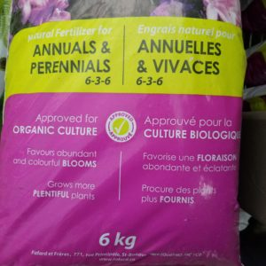 Fertilizer for ANNUALS & PERENNIALS 6 KG