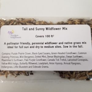 WILDFLOWER SEED MIX TALL & SUNNY 100 SQ FT