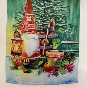 CHRISTMAS GNOME GARDEN FLAG
