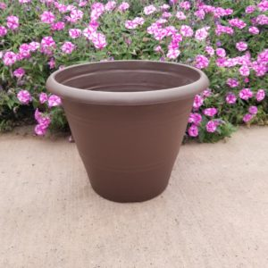 CHOCOLATE PEELEE PLANTER 12″