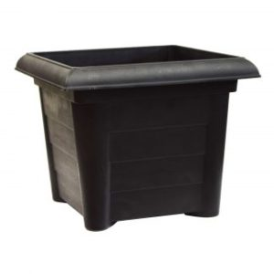 BLACK VENETIAN SQUARE PLANTER