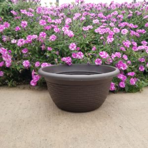 BROWN BOWL PLANTER