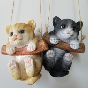 CAT ON A LOG ORNAMENT