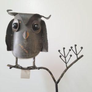 STAKE METAL OWL