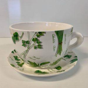 TEA CUP POT HERBS LARGE