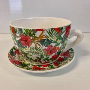 TEA CUP POT HIBISCUS SMALL
