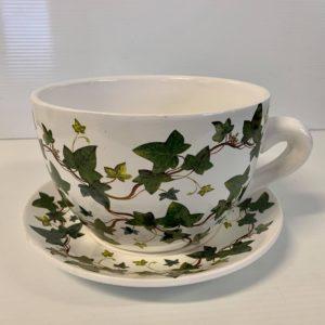 TEA CUP POT IVY SMALL