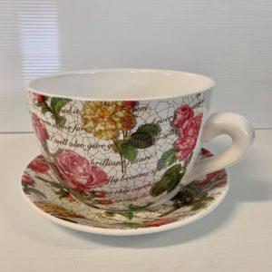 TEA CUP POT ROSES LARGE