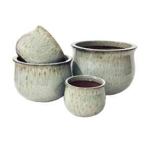 CERAMIC POT FIONA TULIP GREY