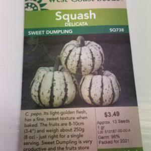 WEST COAST SEED SQUASH – Sweet Dumpling