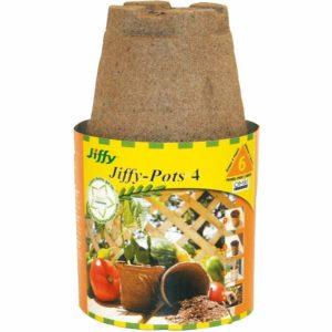 JIFFY POT – 4″ 6 PACK